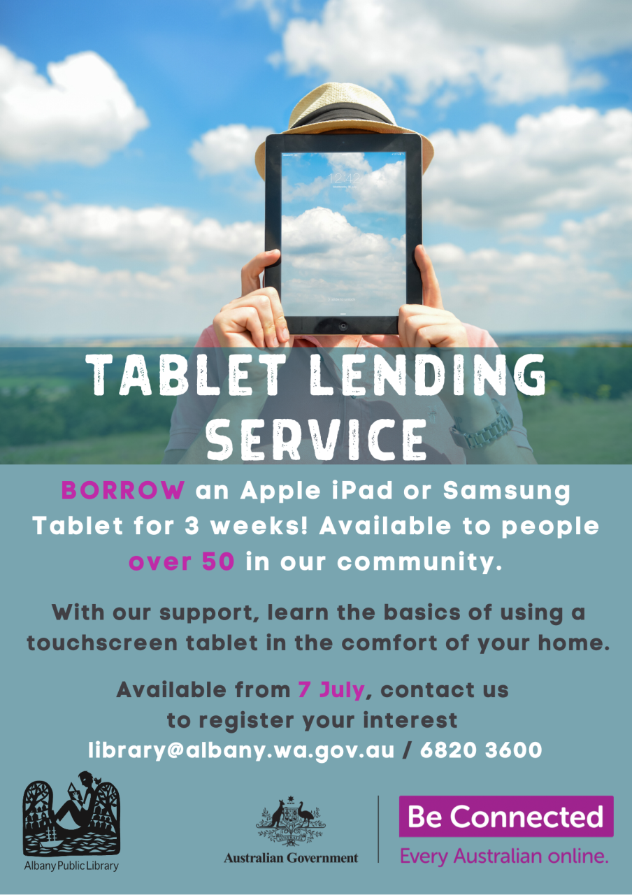 Our Tablet Lending Service is Back!