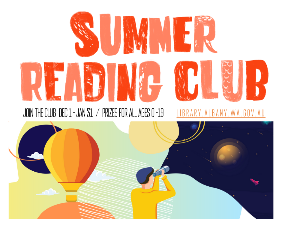 Summer Reading Club Dec 1 to Jan 31
