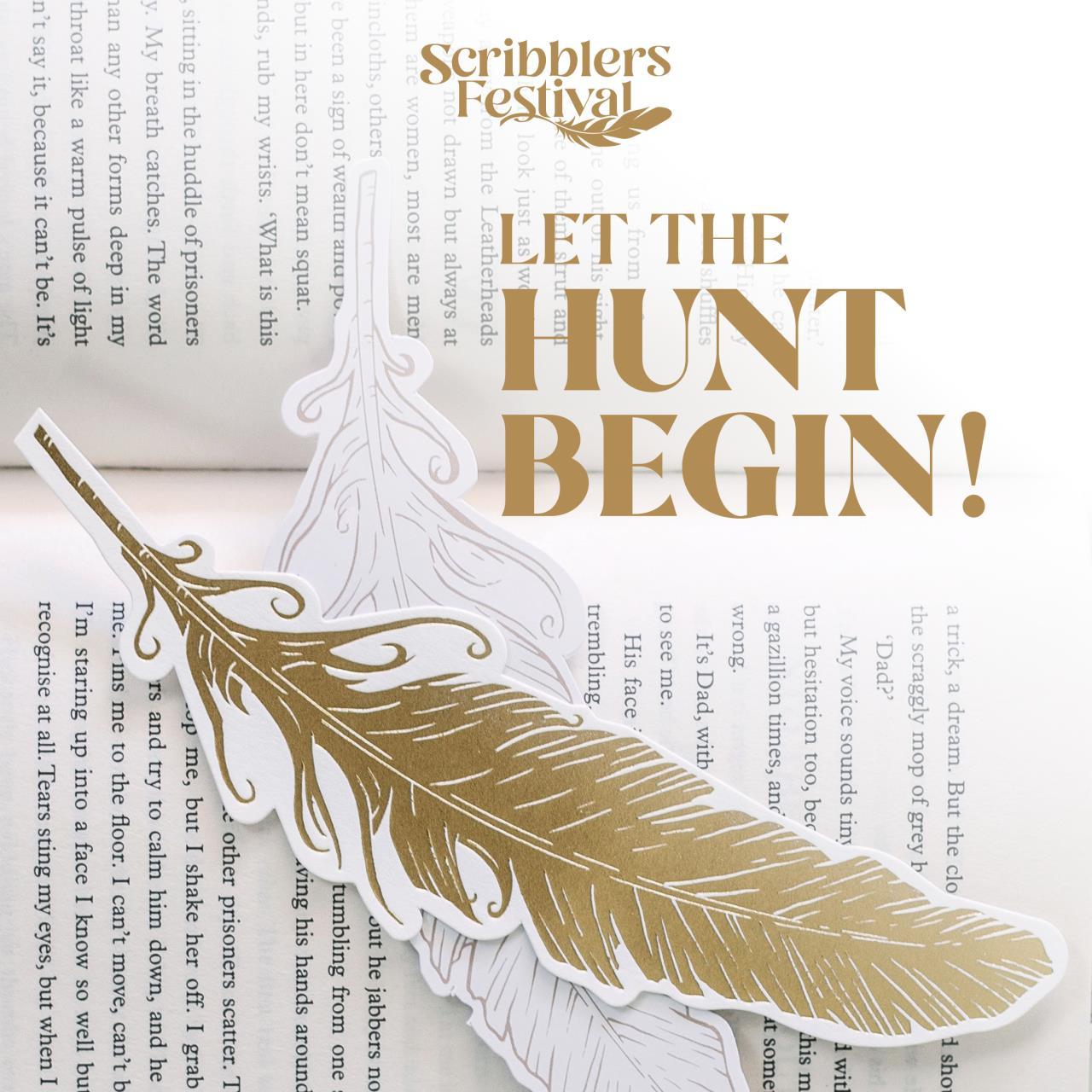 Scribblers Festival Golden Feather Hunt has begun!